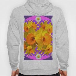 Shasta Daisy Fuchsia Gold Daffodils Design Hoody