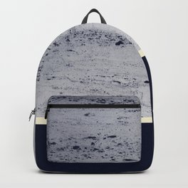 Navy Blue Pale Yellow on Navy Blue Concrete #1 #decor #art #society6 Backpack