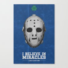 I Believe in Miracles - Lake Placid 1980 Canvas Print
