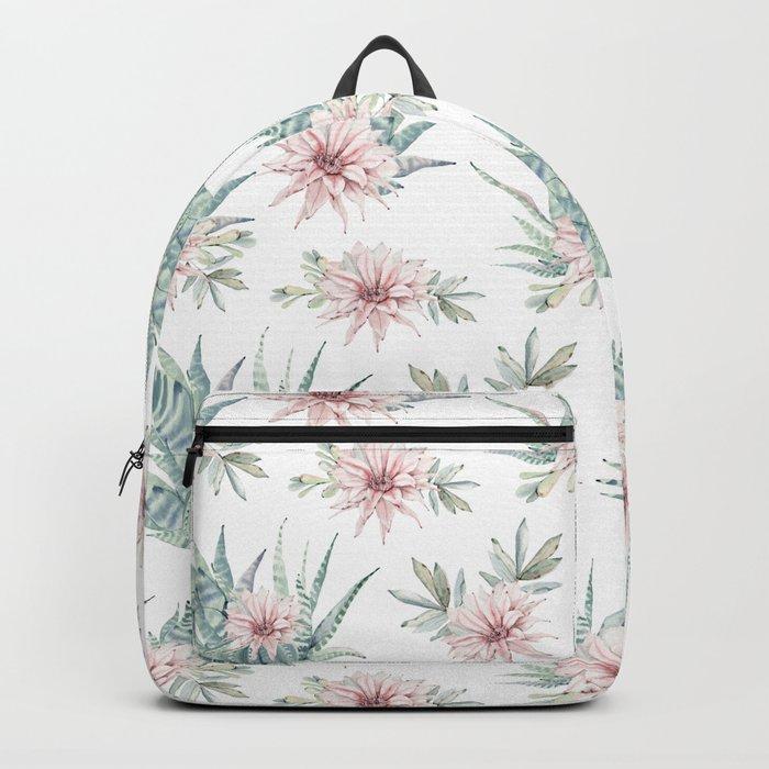 Cactus Rose Succulent Garden Backpack