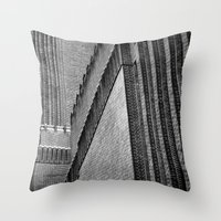 kris tate Throw Pillows featuring Tate Modern by unaciertamirada