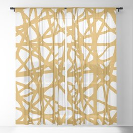 Tangled VII Sheer Curtain