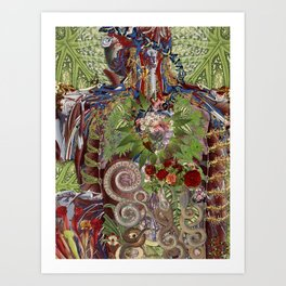 all day, everyday anatomical collage art by bedelgeuse Art Print