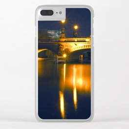 BERLIN NIGHT on the RIVER SPREE Clear iPhone Case