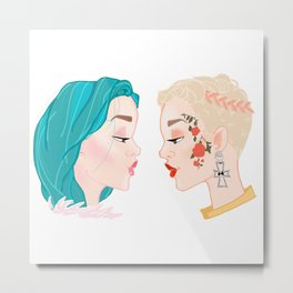 Two Halseys Metal Print
