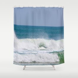 Shaping the Shoreline Shower Curtain
