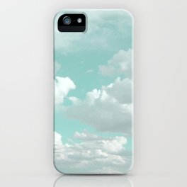 Clouds in a Mint Sky iPhone Case