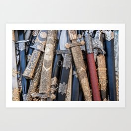 Cold steel arms Art Print