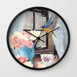 Country Bluebird Wall Clock