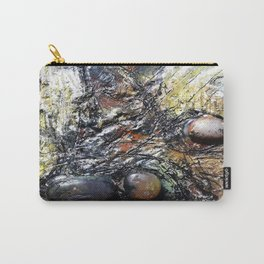 Metallic Melodrama I - Mixed Media Beeswax Encaustic Acrylic Abstract Modern Fine Art, 2015 Carry-All Pouch