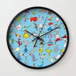 Dr. Seuss Characters Wall Clock