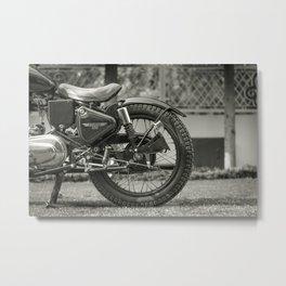 The Vintage Royal Enfield Bullet 350 Motorcycle Metal Print