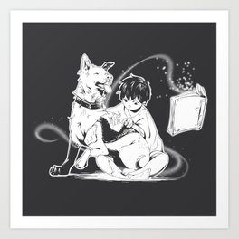 Witch & his Pup Art Print