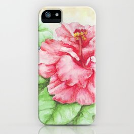 Gumamela Flower iPhone Case