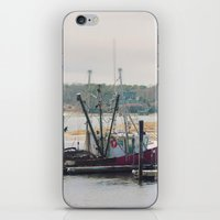 cape cod iPhone & iPod Skins featuring Cape Cod Fishing Boat by ELIZABETH THOMAS Photography of Cape Cod