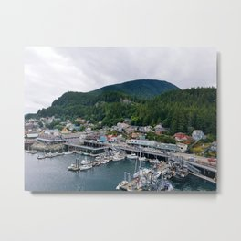Ketchikan Docks Metal Print