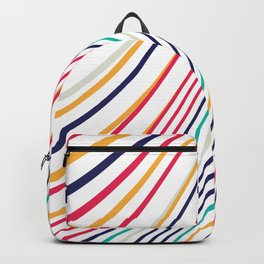 Abstract Colorful Lines Backpack