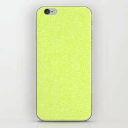 Melange - White and Fluorescent Yellow iPhone Skin