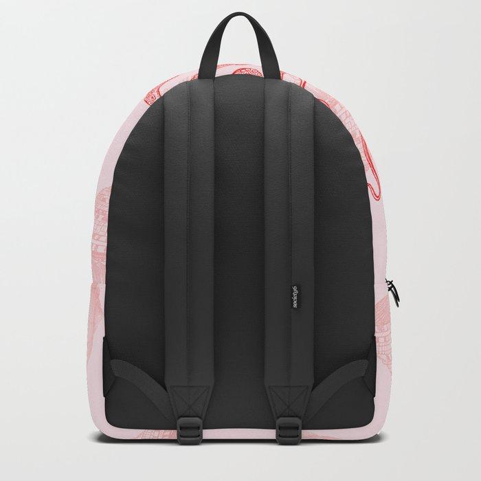 Octopus SeaShells Salmon Color Design Backpack