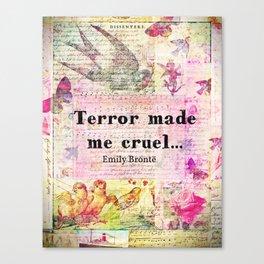 Emily Bronte quote  Canvas Print