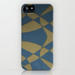 Wings and Sails - Blue and Beige iPhone Case