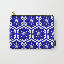 Abstract blue oriental carpet Carry-All Pouch