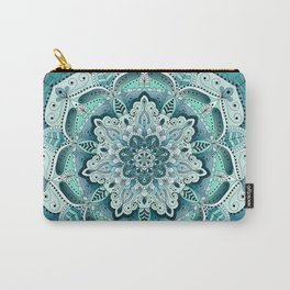 Winter blue floral mandala Carry-All Pouch