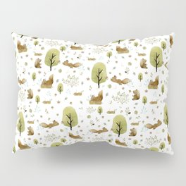 Squirrels in the forest Pillow Sham