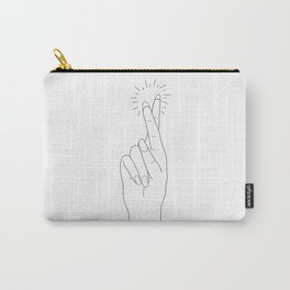 Fingers Crossed Carry-All Pouch