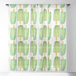 Cactus Popsicles Pattern #society6 #decor #buyart Sheer Curtain