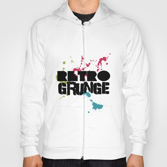 Abstract373 Retro Grunge Hoody