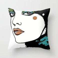 Green Eyeshadow  Throw Pillow