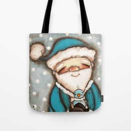Blue Santa - by Diane Duda Tote Bag