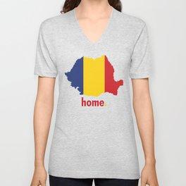 Romania Proud Unisex V-Neck