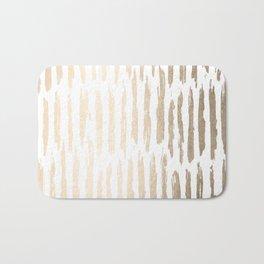 White Gold Sands Vertical Dash Bath Mat