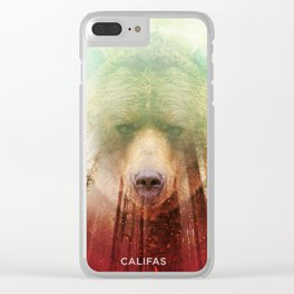 CALI BEAR Clear iPhone Case