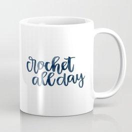 Crochet All Day - Navy Coffee Mug