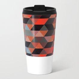 Textured Geometric Metal Travel Mug