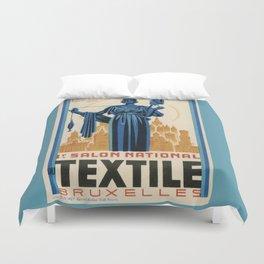 1938 Art deco Textile Expo Brussels Duvet Cover