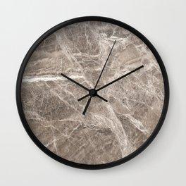 Brown Marble II Wall Clock