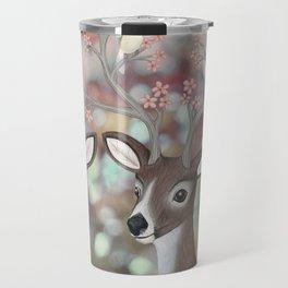white tailed deer, warbling vireos, & cherry blossoms Travel Mug