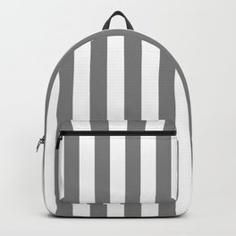 Narrow Vertical Stripes - White and Gray Backpack