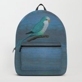 Cuddly blue quaker parrot Backpack