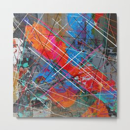 Canvas Abstract Tres Metal Print