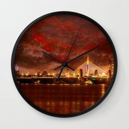 Boston Charles River Bridges Wall Clock