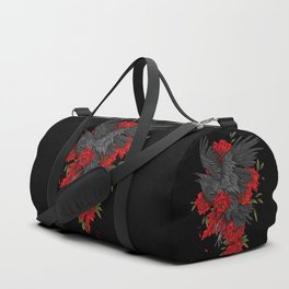 Raven with flowers Duffle Bag