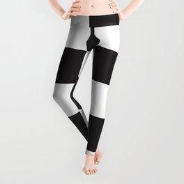 Black and White Checkered Pattern Leggings