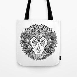 MONKEY head. psychedelic / zentangle style Tote Bag
