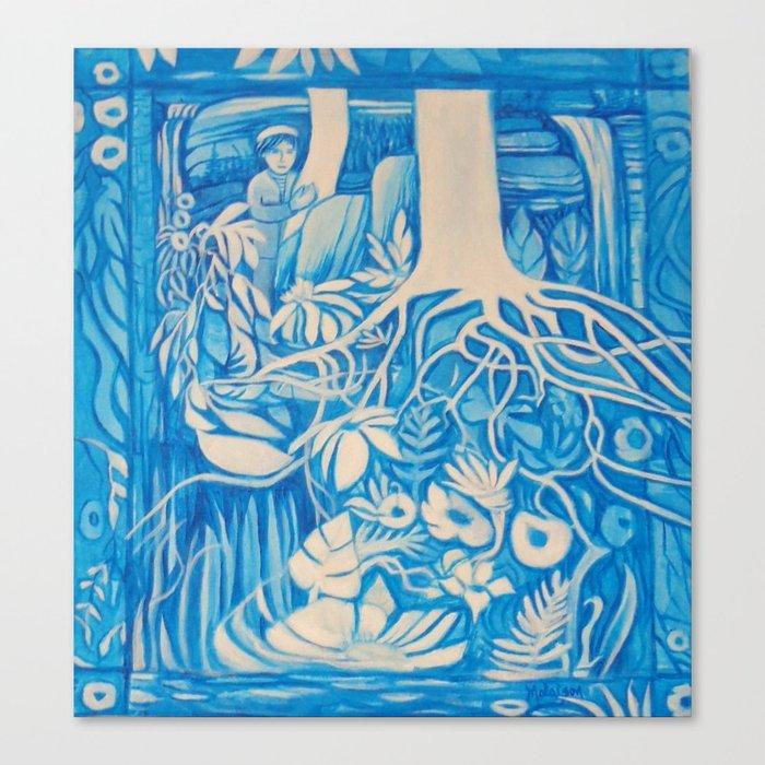 Blue window #2 Canvas Print