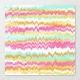 Candy Colored Sound Waves Canvas Print